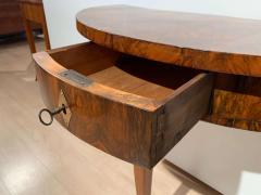 Biedermeier Demi Lune Console Table Walnut Veneer South Germany circa 1825 - 1958830