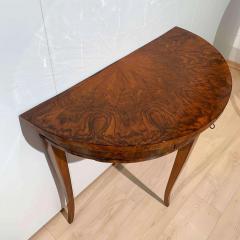 Biedermeier Demi Lune Console Table Walnut Veneer South Germany circa 1825 - 1958832