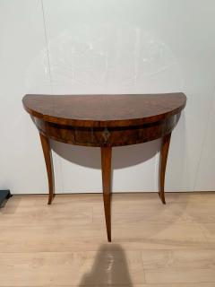 Biedermeier Demi Lune Console Table Walnut Veneer South Germany circa 1825 - 1982987