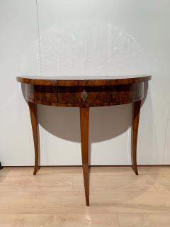 Biedermeier Demi Lune Console Table Walnut Veneer South Germany circa 1825 - 1982989