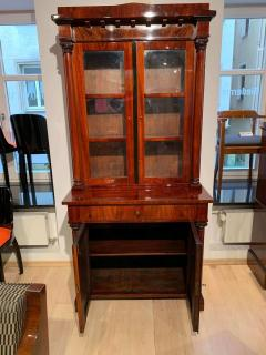 Biedermeier Display Cabinet Vitrine Mahogany French Polish Germany 19th c  - 1539213