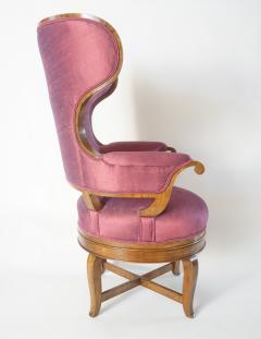 Biedermeier Fauteuil de Bureau Swivel Seat Wingback Chair circa 1830 - 788303