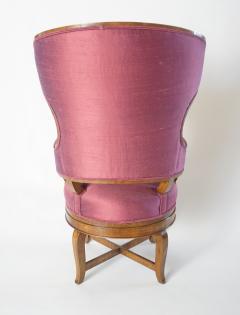 Biedermeier Fauteuil de Bureau Swivel Seat Wingback Chair circa 1830 - 788305