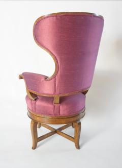 Biedermeier Fauteuil de Bureau Swivel Seat Wingback Chair circa 1830 - 788310