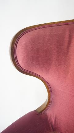 Biedermeier Fauteuil de Bureau Swivel Seat Wingback Chair circa 1830 - 788320