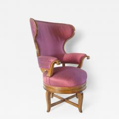 Biedermeier Fauteuil de Bureau Swivel Seat Wingback Chair circa 1830 - 789614