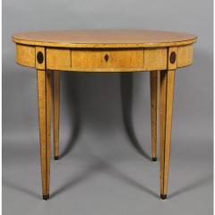 Biedermeier Karelian Birch Center Table - 1532705