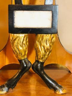 Biedermeier Mantle Clock with Ebonized Details and Hoof Legs Silk Suspension - 1239599