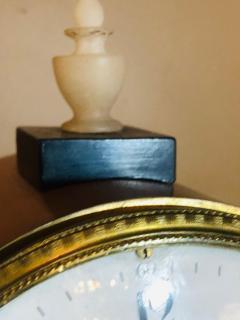 Biedermeier Mantle Clock with Ebonized Details and Hoof Legs Silk Suspension - 1239602