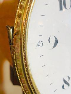 Biedermeier Mantle Clock with Ebonized Details and Hoof Legs Silk Suspension - 1239603