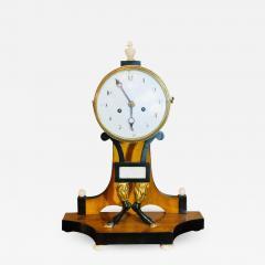 Biedermeier Mantle Clock with Ebonized Details and Hoof Legs Silk Suspension - 1242031