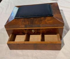Biedermeier Sewing Box Mahogany Drawer Needle Cushion France circa 1820 - 1612365
