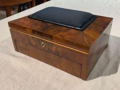 Biedermeier Sewing Box Mahogany Drawer Needle Cushion France circa 1820 - 1612366