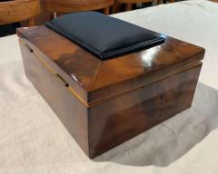 Biedermeier Sewing Box Mahogany Drawer Needle Cushion France circa 1820 - 1612367