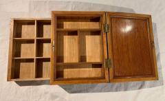 Biedermeier Sewing Box Mahogany Drawer Needle Cushion France circa 1820 - 1612378