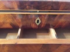 Biedermeier Sewing Box Mahogany Drawer Needle Cushion France circa 1820 - 1612379
