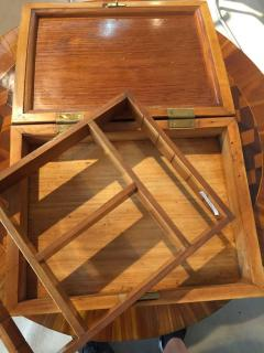 Biedermeier Sewing Box Mahogany Drawer Needle Cushion France circa 1820 - 1612388