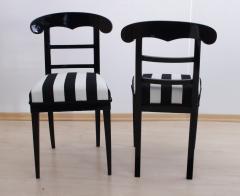 Biedermeier Shovel Chair Ebonized Wood Austria circa 1820 - 955105