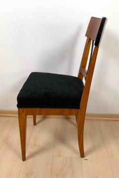Biedermeier Side Chair Polished Cherry Black Velvet South Germany circa 1820 - 1612314