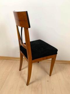 Biedermeier Side Chair Polished Cherry Black Velvet South Germany circa 1820 - 1612315