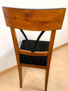 Biedermeier Side Chair Polished Cherry Black Velvet South Germany circa 1820 - 1612328