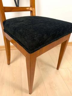 Biedermeier Side Chair Polished Cherry Black Velvet South Germany circa 1820 - 1612330