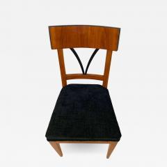 Biedermeier Side Chair Polished Cherry Black Velvet South Germany circa 1820 - 1612600