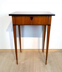 Biedermeier Side Table with Drawer Cherry Veneer South Germany circa 1820 - 1808540