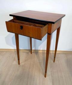 Biedermeier Side Table with Drawer Cherry Veneer South Germany circa 1820 - 1808544
