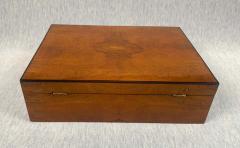 Biedermeier Style Decorative Box Walnut Veneer South Germany circa 1910 1920 - 1808477