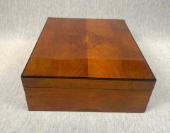 Biedermeier Style Decorative Box Walnut Veneer South Germany circa 1910 1920 - 1808479