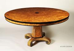 Biedermeier Style Round Dining Table by Iliad Design - 453740
