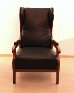 Biedermeier Wing Chair Adjustable Walnut South Germany circa 1820 - 1267889