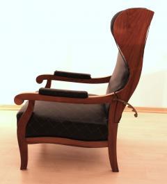 Biedermeier Wing Chair Adjustable Walnut South Germany circa 1820 - 1267891