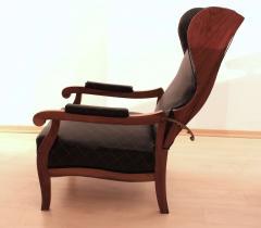 Biedermeier Wing Chair Adjustable Walnut South Germany circa 1820 - 1267892