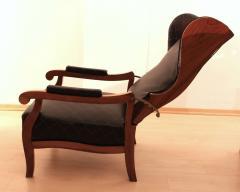 Biedermeier Wing Chair Adjustable Walnut South Germany circa 1820 - 1267893
