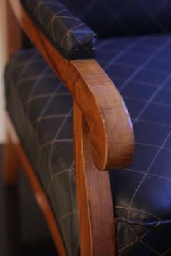 Biedermeier Wing Chair Adjustable Walnut South Germany circa 1820 - 1267894