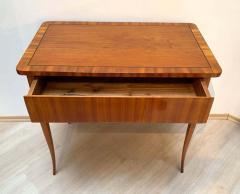 Biedermeier Working Table with Drawer Cherry Veneer Austria circa 1830 - 1576657