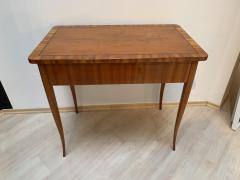 Biedermeier Working Table with Drawer Cherry Veneer South Germany circa 1830 - 1201521