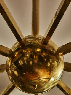 Big Brass Chandelier with Glass Lenses - 1690272