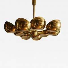 Big Brass Chandelier with Glass Lenses - 1693023