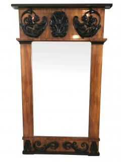 Big Empire Mirror Mahogany Carved Decor South Germany circa 1810 - 1683319