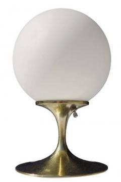 Bill Curry Mid Century Brass Tulip Table Lamp by Laurel Co  - 556293
