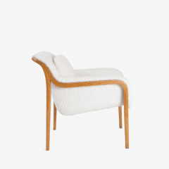 Bill Stephens Model 1315 Bentwood Lounge Chair in Faux Lambswool by Bill Stephens for Knoll - 1430680