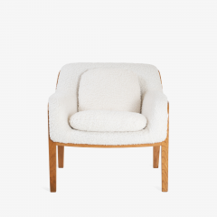 Bill Stephens Model 1315 Bentwood Lounge Chair in Faux Lambswool by Bill Stephens for Knoll - 1430681