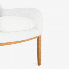 Bill Stephens Model 1315 Bentwood Lounge Chair in Faux Lambswool by Bill Stephens for Knoll - 1430682
