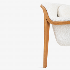 Bill Stephens Model 1315 Bentwood Lounge Chair in Faux Lambswool by Bill Stephens for Knoll - 1430685