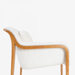 Bill Stephens Model 1315 Bentwood Lounge Chair in Faux Lambswool by Bill Stephens for Knoll - 1430686