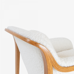 Bill Stephens Model 1315 Bentwood Lounge Chair in Faux Lambswool by Bill Stephens for Knoll - 1430687