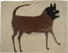 Bill Traylor Untitled Dog with Black Head